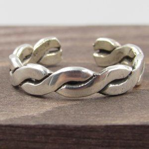Jewelry - Size 3.75 Sterling Silver Petite Braided Open Band